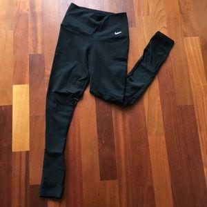 Nike Dri-Fit Black Mesh Accented Leggings, Medium